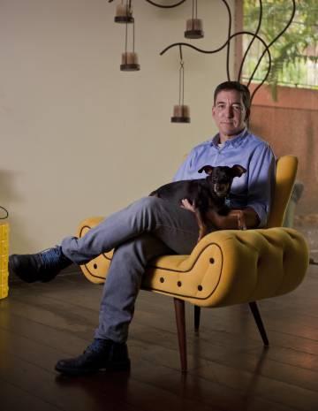 Glenn Greenwald en su casa de Río de Janeiro.