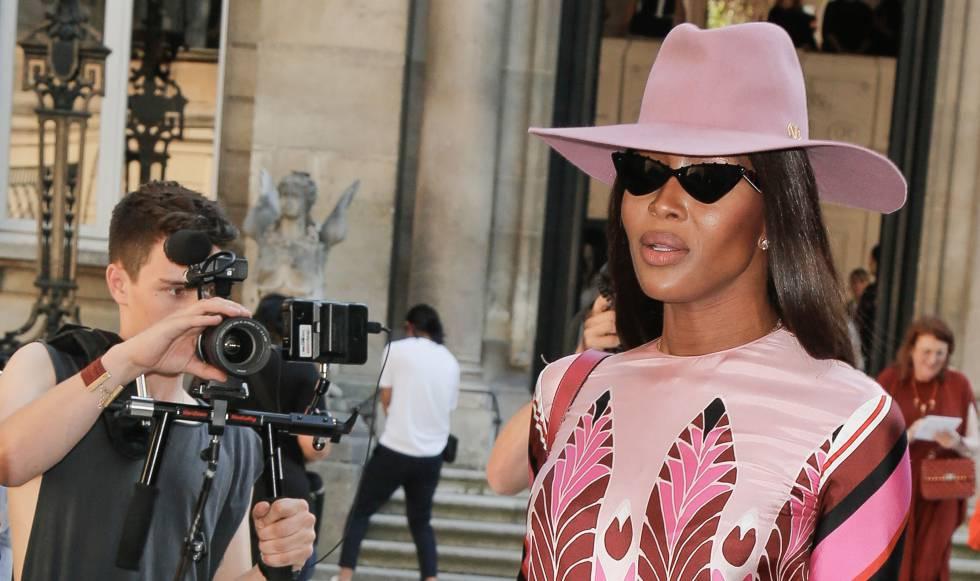 Naomi Cambpell, a la llegada del desfile de Valentino en París, el 3 de julio de 2019.