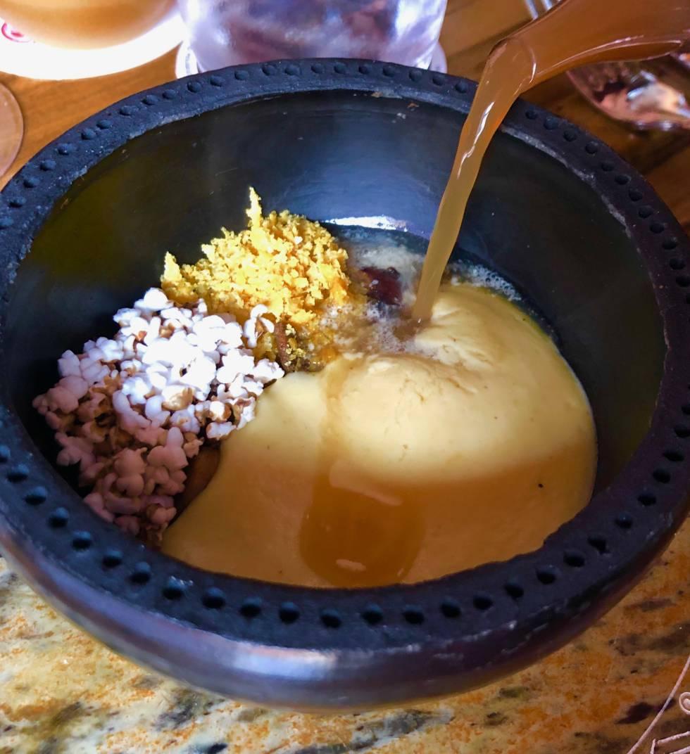 Caracoles pateburro a las texturas de maíz Capel