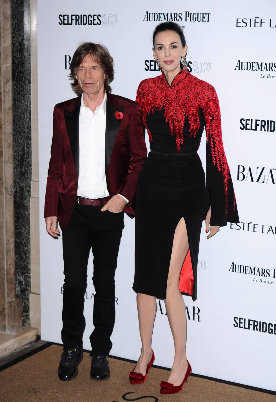 Mick Jagger y L'Wren Scott, en noviembre de 2013.