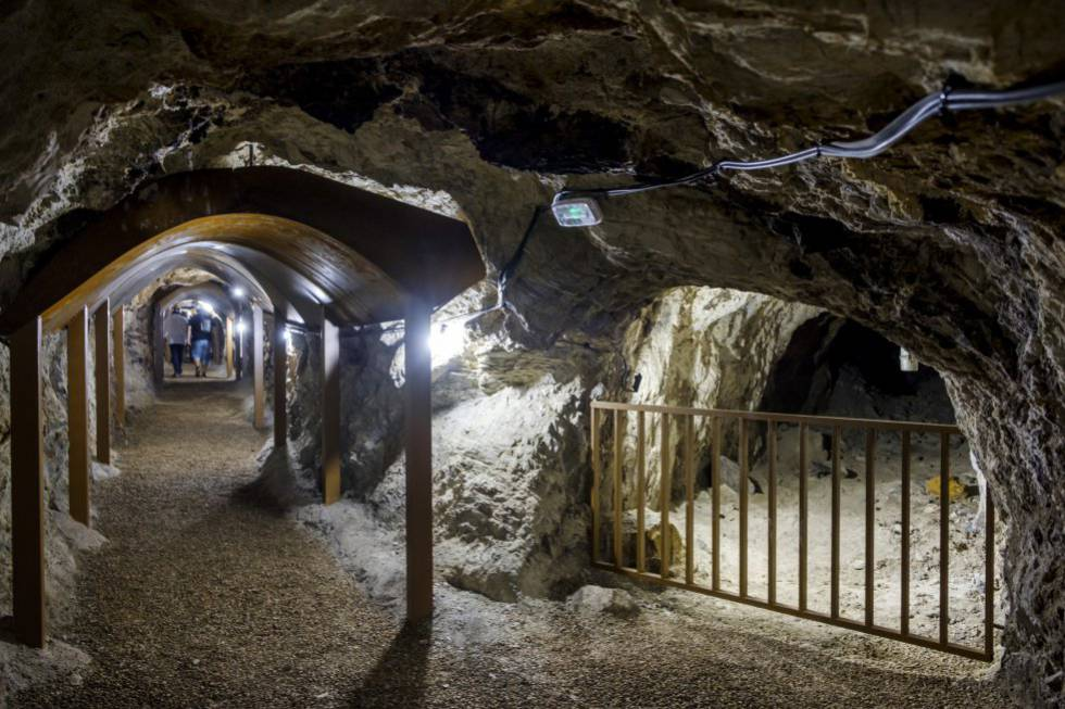 Visitors will go on a guided tour of part of the old mine.