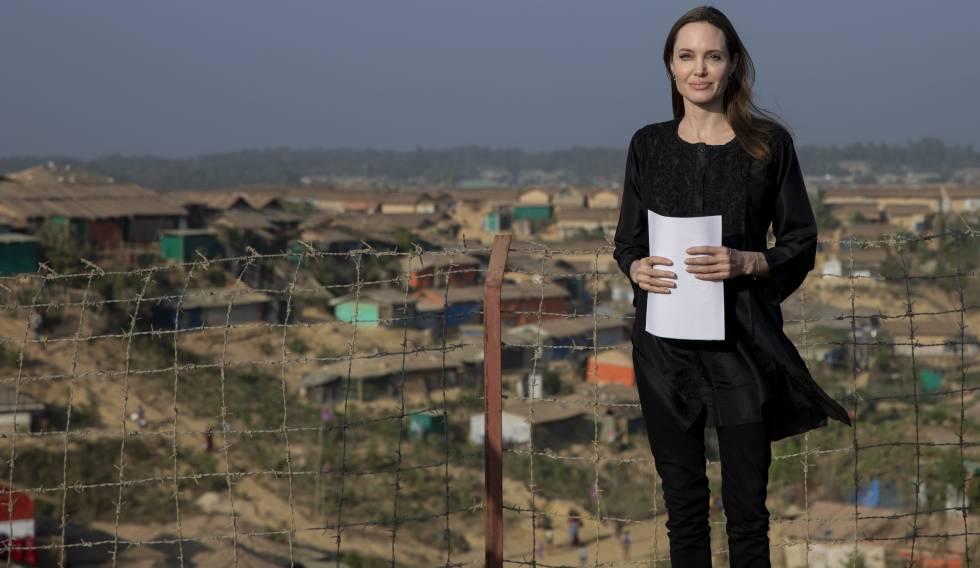 Angelina Jolie, en Bangladesh, el pasado febrero.