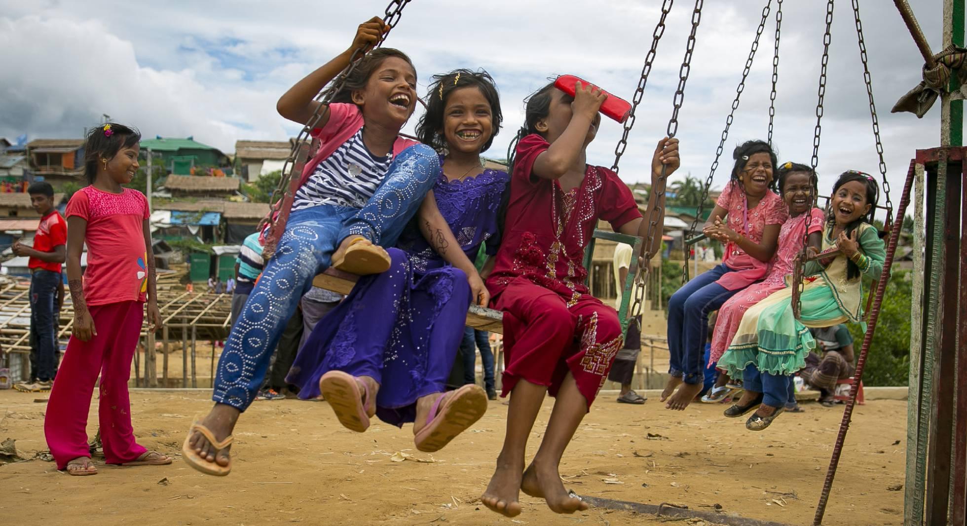 Las celebraciones del Eid al-Adha en un campamento de refugiados rohingya