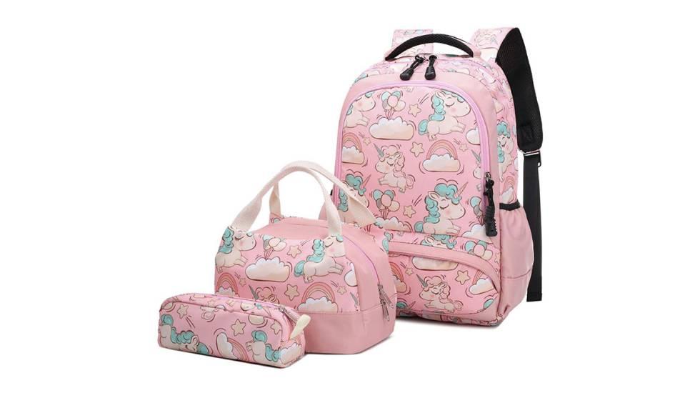 Set de mochila escolar con estuche y bolsa de almuerzo