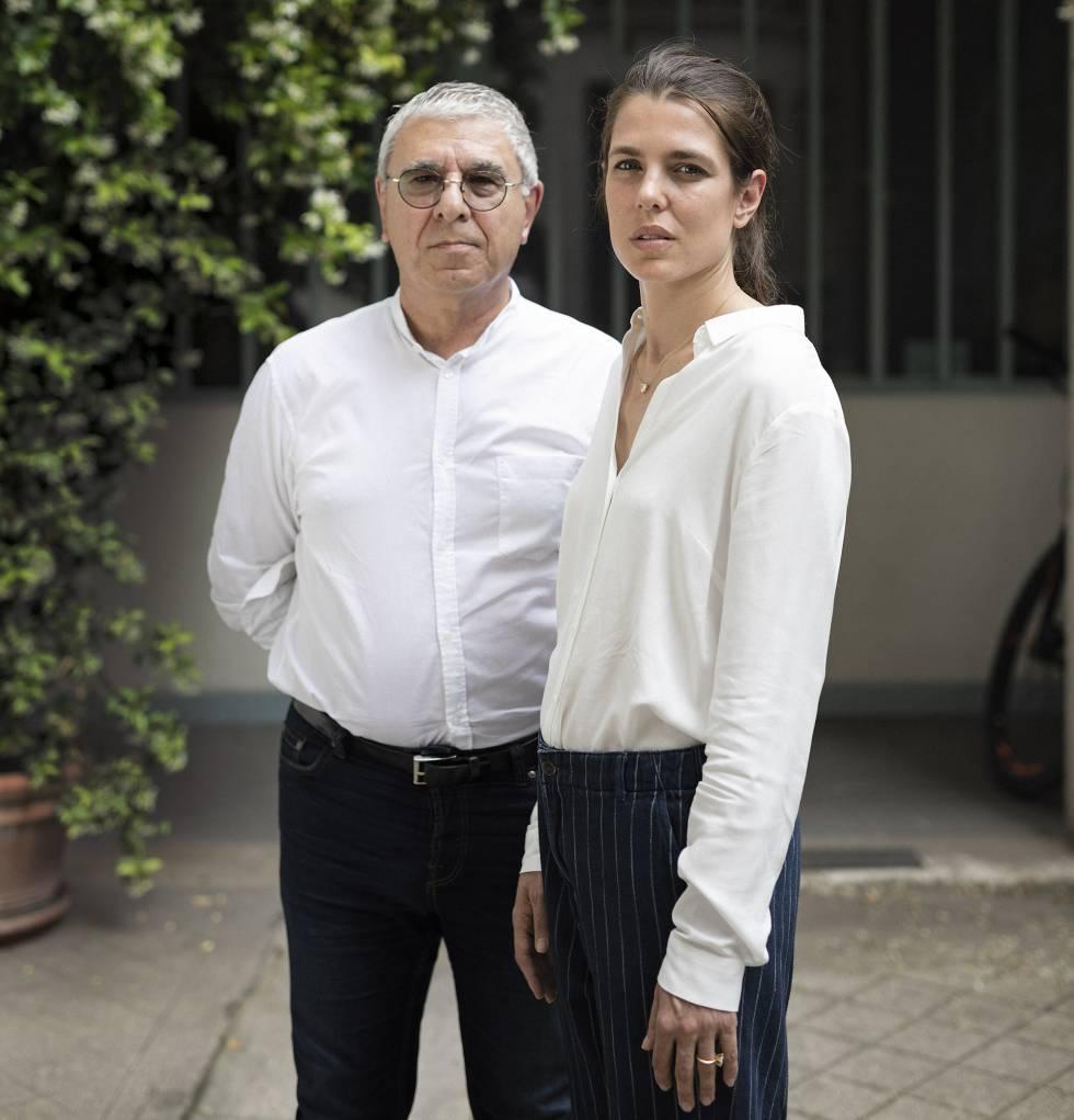 Maggiori y Casiraghi, en el despacho de los Encuentros Filosóficos de Mónaco, en el Barrio Latino de París.