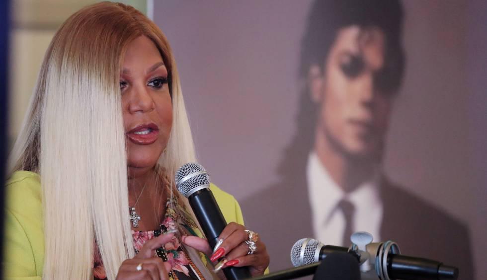 Raymone Bain, última publicista de Michael Jackson, durante su conferencia en Washington D.C.