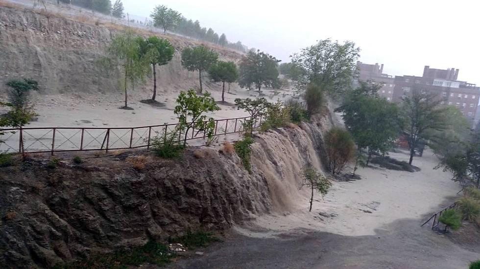 Video still of the storm at Rivas Vaciamadrid,