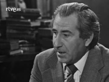 José Luis Jordán Peña, el cerebro de la creación de Ummo, en 1979 en el popular programa presentado por Fernando Jiménez del Oso, 'Más allá'.