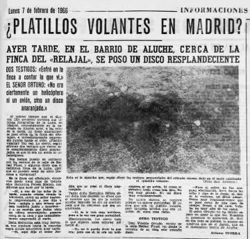 """Antonio San Antonio, periodista del diario 'Informaciones', publicó las fotografías en el diario con el título: """"¿Platillos volantes sobre Madrid?"""