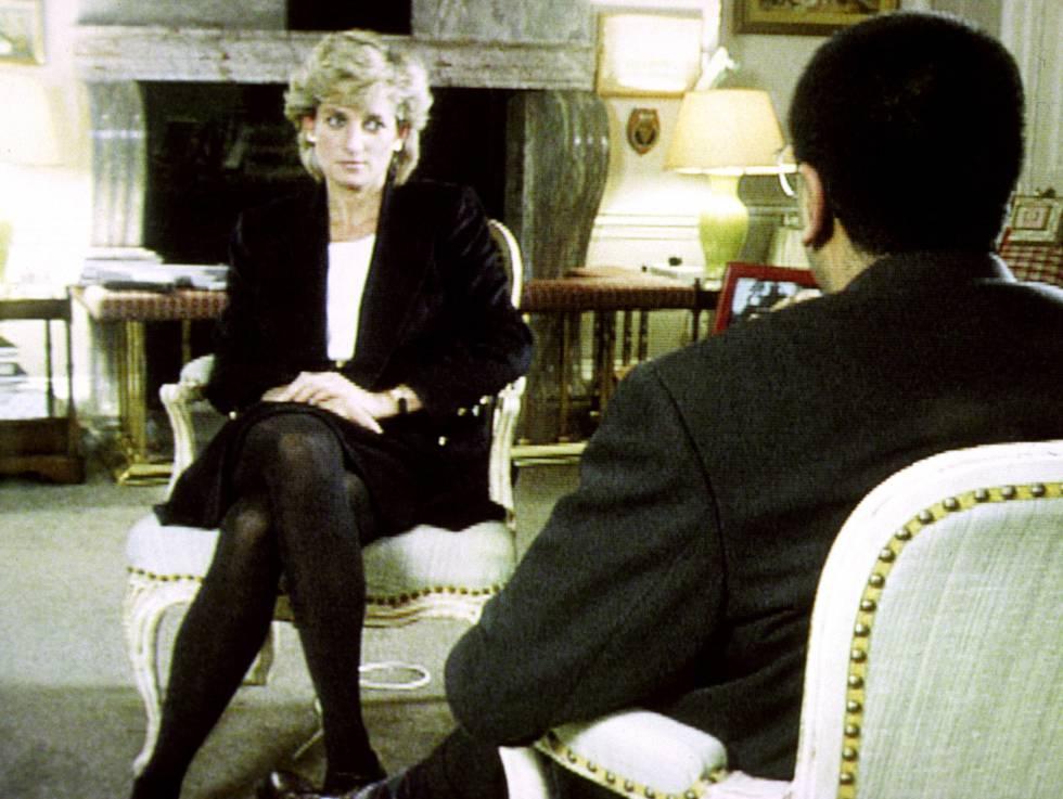 Diana, en su entrevista con Martin Bashir en la BBC en 1995.