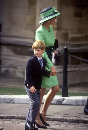 Diana y Enrique, en una boda en Windsor en 1992.