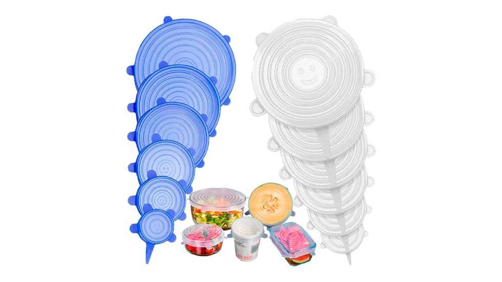 Tapas de silicona elásticas reutilizables