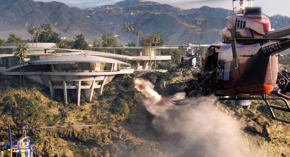 Una de las escenas de la saga de 'Iron Man', donde la casa es atacada.