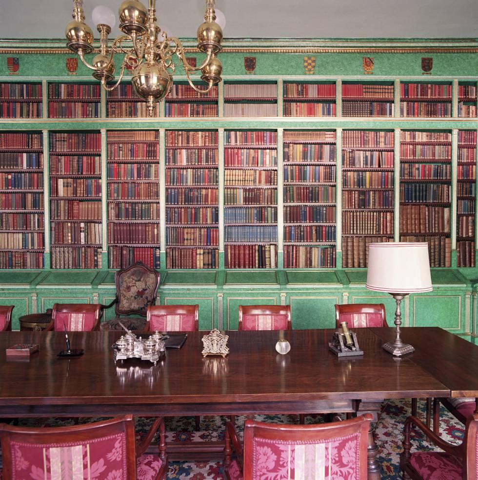 La biblioteca de Liria, con cerca de 20.000 volúmenes.
