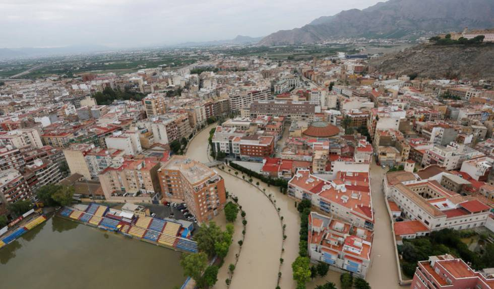 Flooding in Orihuela in Alicante province.