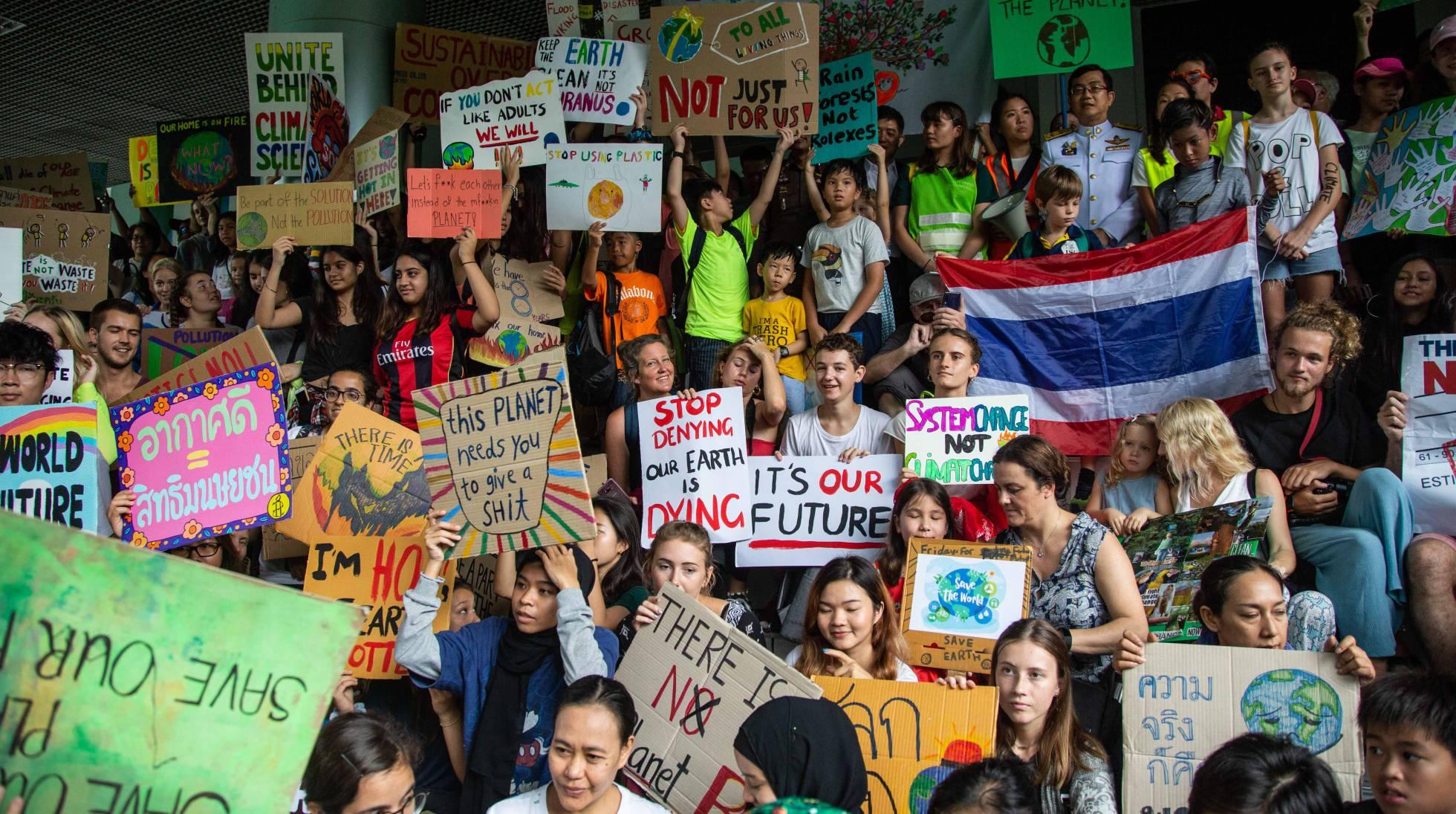 Resultado de imagen para protestas cambio climatico
