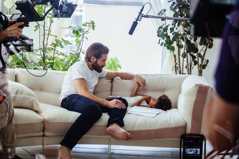 Un momento del rodaje de Eternity Eau De Parfum. El actor es imagen de la primera fragancia para hombre de Calvin Klein.
