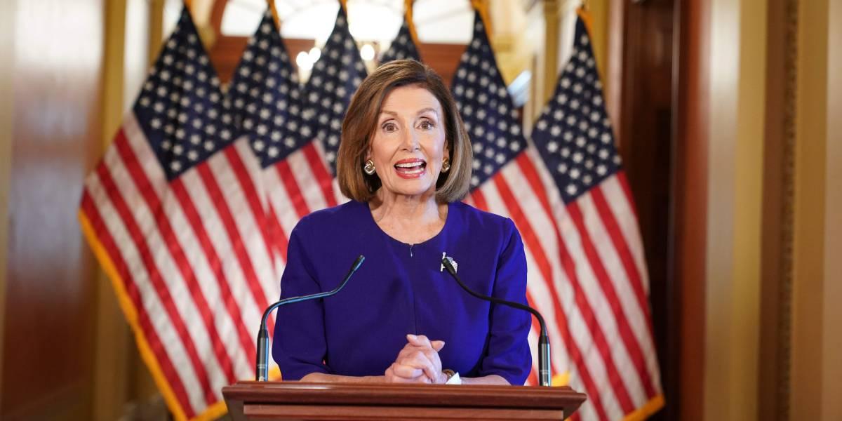 La presidenta del Congreso de EE UU, Nancy Pelosi, este martes.