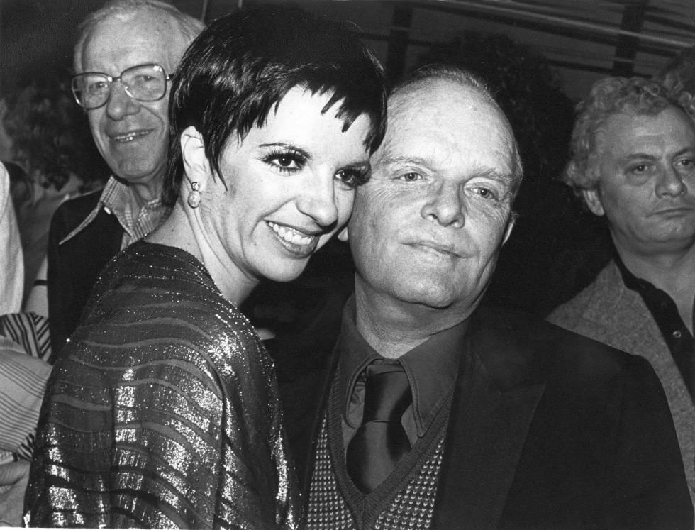 Liza Minelli y Truman Capote en 1979.