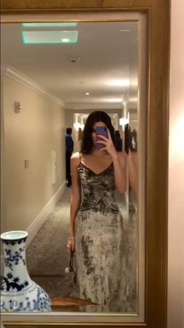 La modelo Kendall Jenner, durante la celebración de la boda de Justin Bieber y Hailey Baldwin.