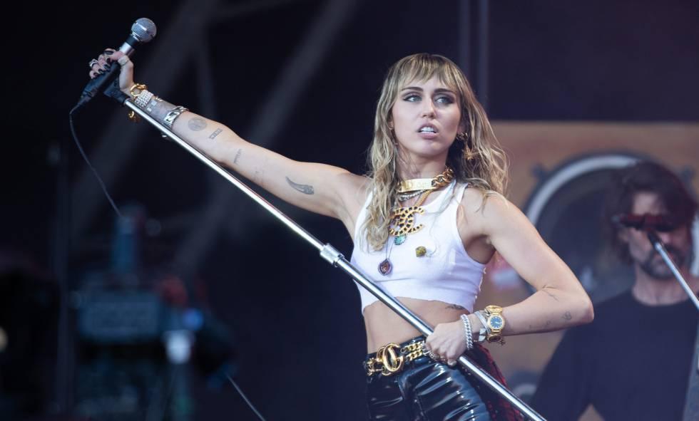 Miley Cyrus, en un concierto en junio de 2019.