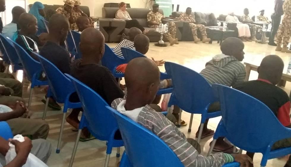 El grupo de 23 niños y dos niñas liberados el pasado 3 de octubre en Nigeria.