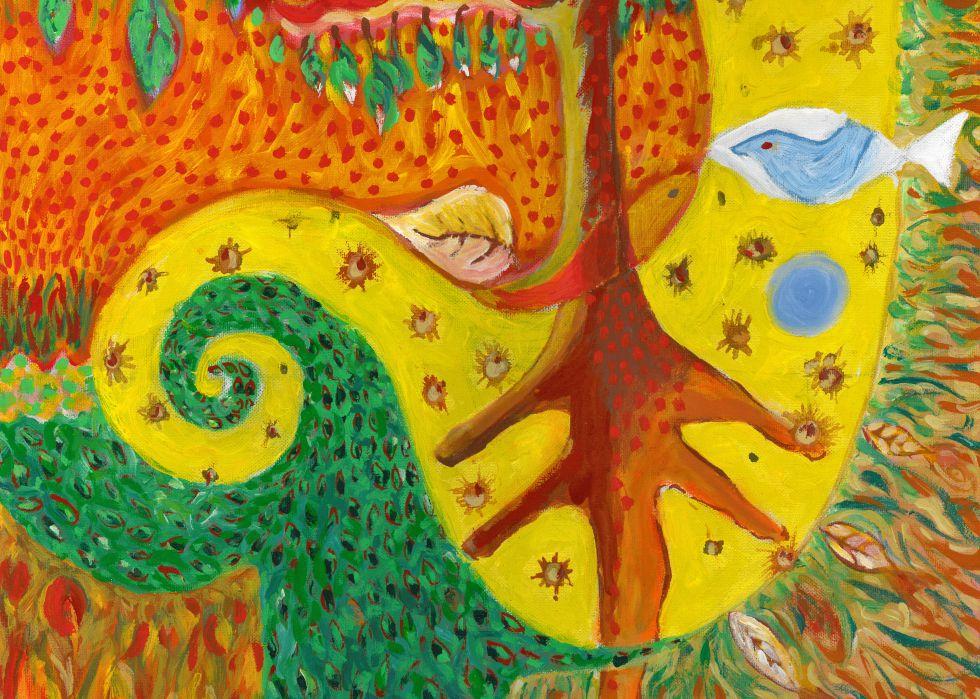 Boceto para cuadro raíces . Ilustración cedida por