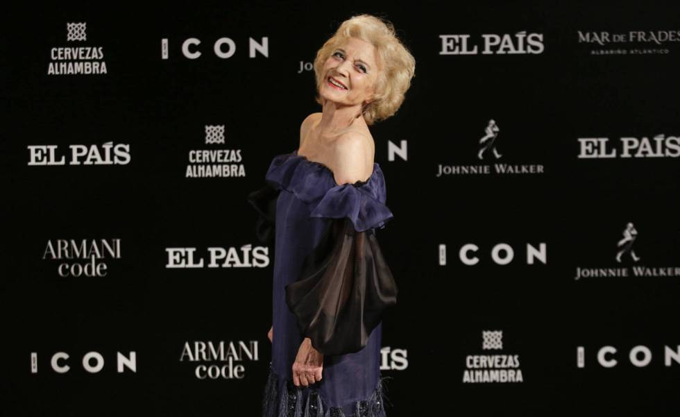 Marisa Paredes, this Wednesday at the gala of the 5th ICON Awards, in Madrid.
