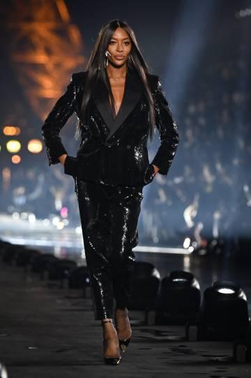 Naomi Campbell, en la Semana de la Moda de París, en septiembre.