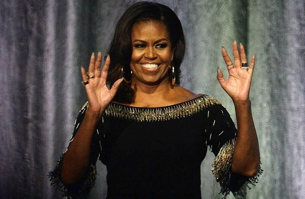 Michelle Obama en una de las comparecencias de su gira de promoción de sus memorias.