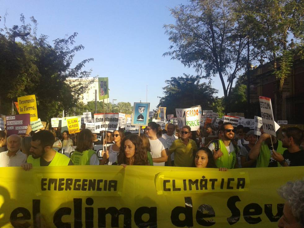 A recent march against climate change in Seville.