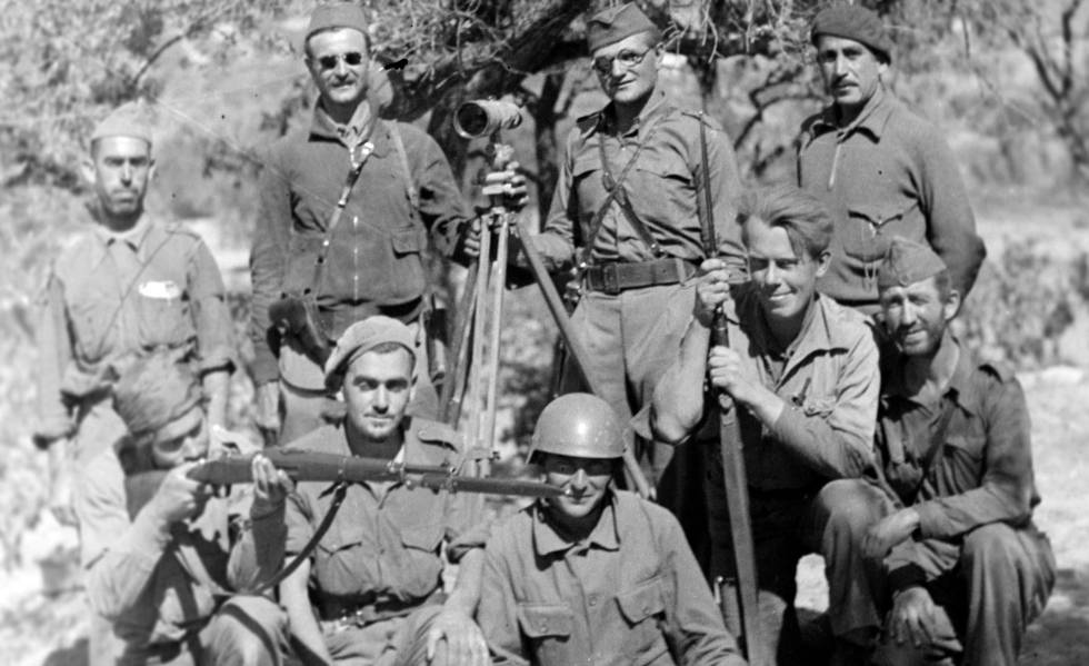 La XV Brigada Internacional del Ebro en agosto de 1938.