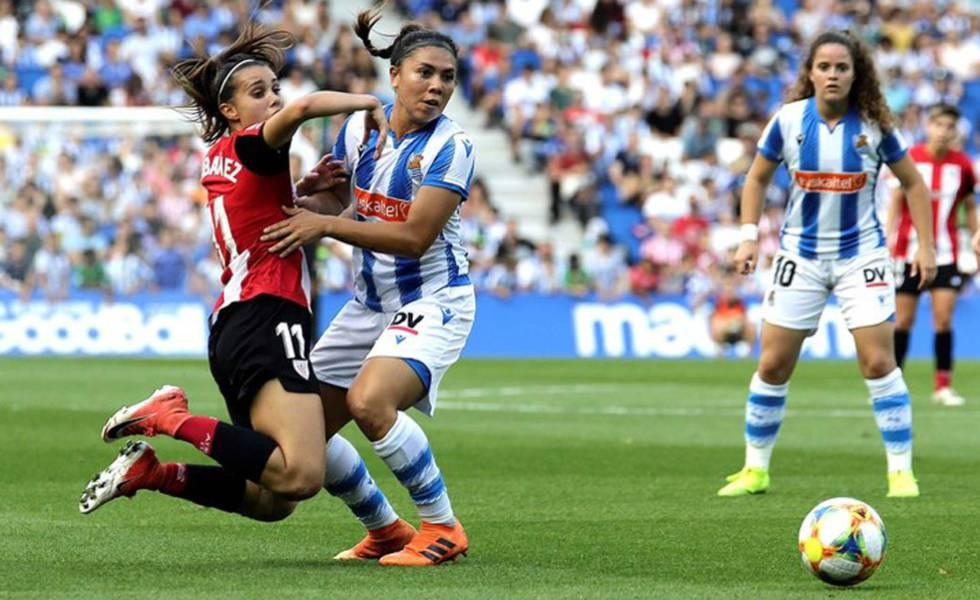La Real Sociedad se enfrenta al Athletic, en un encuentro de la Liga Iberdrola.
