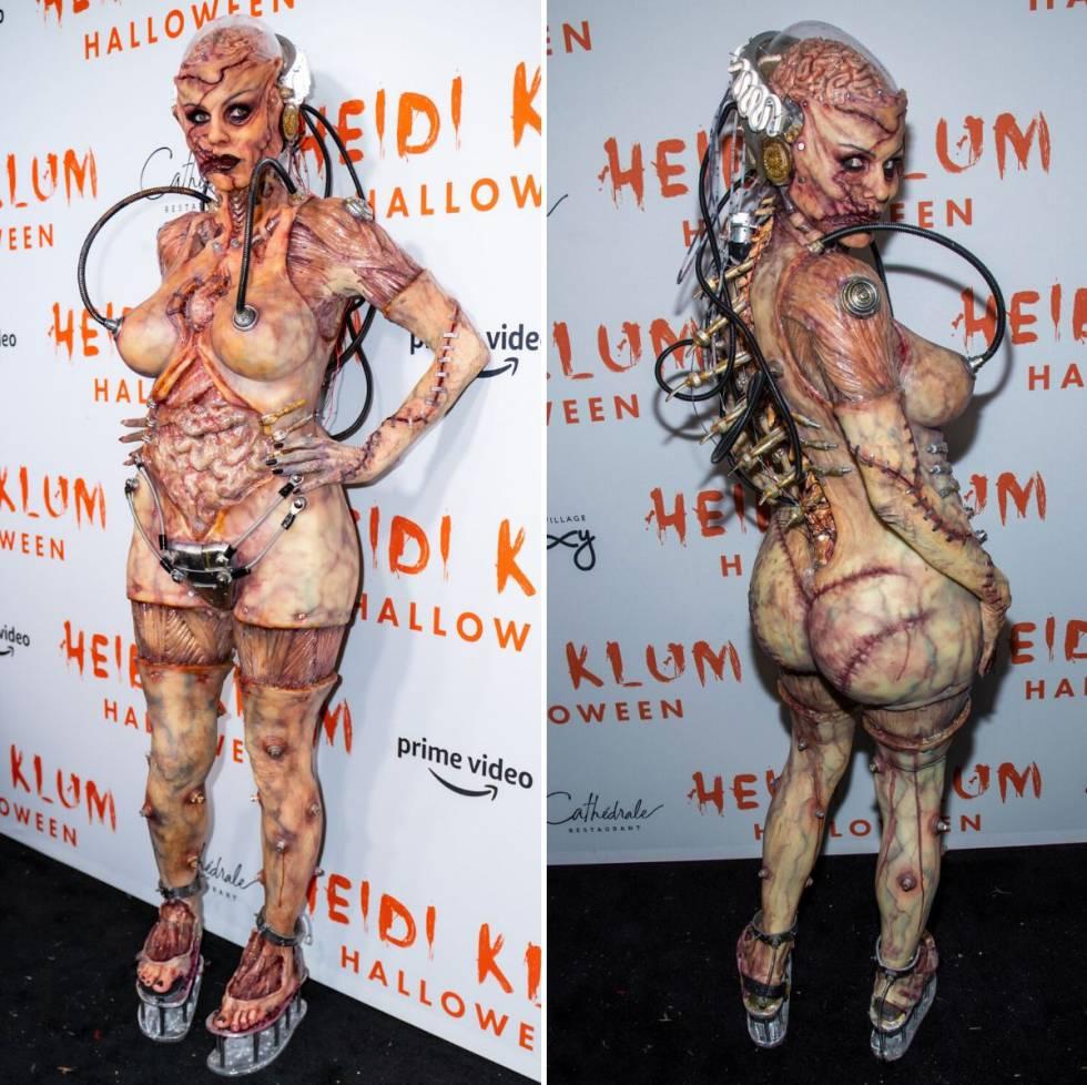 Heidi Klum, in her Halloween party in 2019.