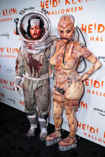 Heidi Klum y Tom Kaulitz, en Halloween.