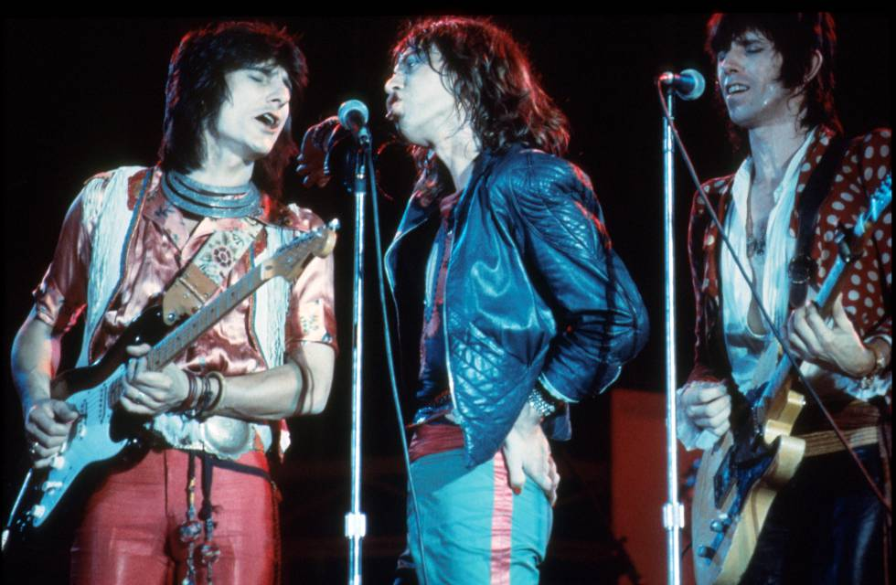 Ronnie Wood, Mick Jagger y Keith Richards