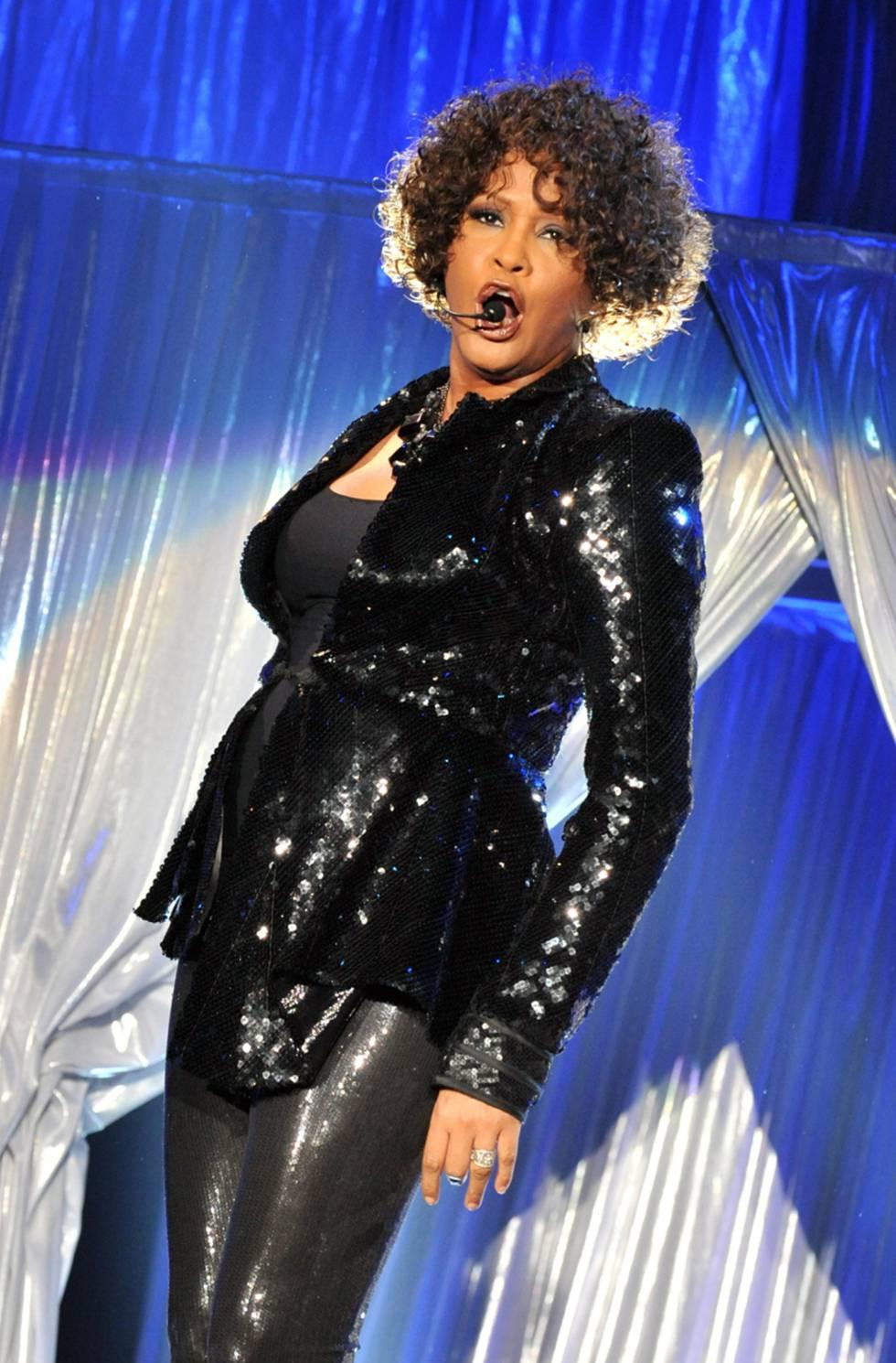 Whitney Houston en Amberes (Bélgica) en mayo de 2010.