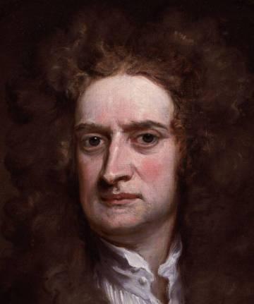 The British scientist Isaac Newton (1643-1727)