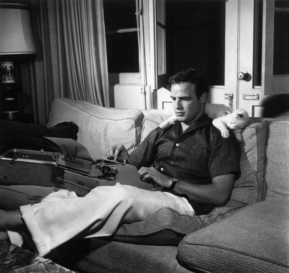 El actor Marlon Brandon, en 1956.
