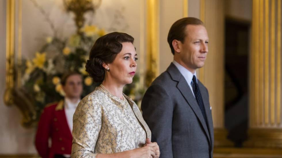 Olivia Colman y Tobias Menzies, como Isabel II y Felipe de Edimburgo en 'The Crown'