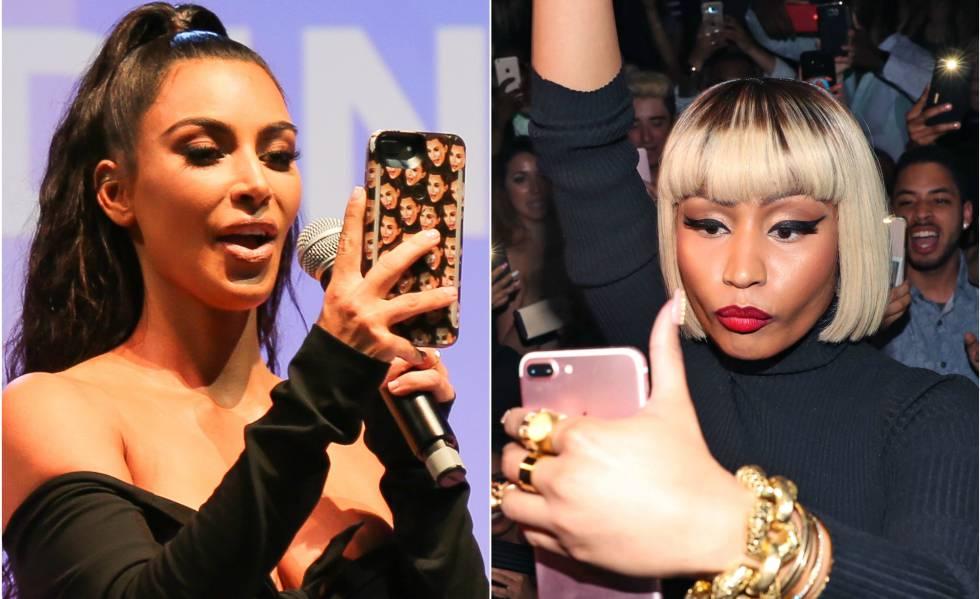 Kim Kardashian y Nicki Minaj.