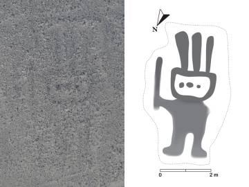 El primer geoglifo identificado gracias al sistema de Inteligencia Artificial.
