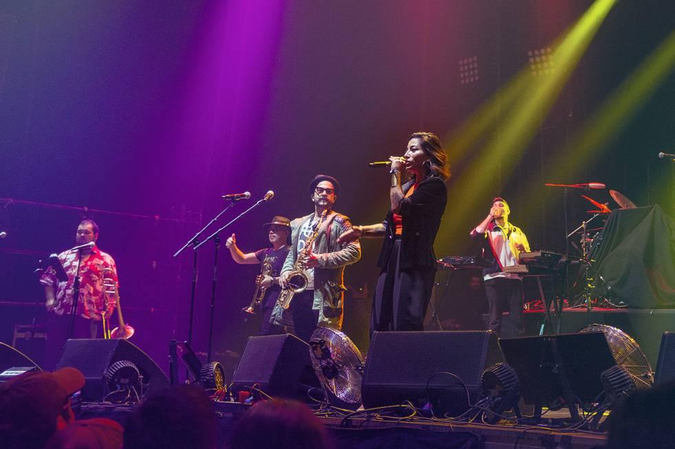 Ana Tijoux, durante su concierto en el festival Otoño Fauna, en mayo de este año, en Santiago de Chile.