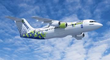 E-Fan X, un prototipo de avión de pasajeros de propulsión híbrida desarrollado por Airbus.
