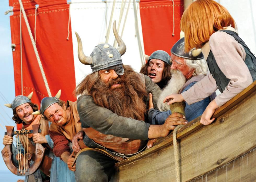 La película 'Vicky el vikingo' (2009) es un ejemplo más de que los vikingos siempre son representados con cuernos en el cine.