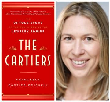 El libro 'Los Cartier' y su autora, Francesca Cartier Brickell.