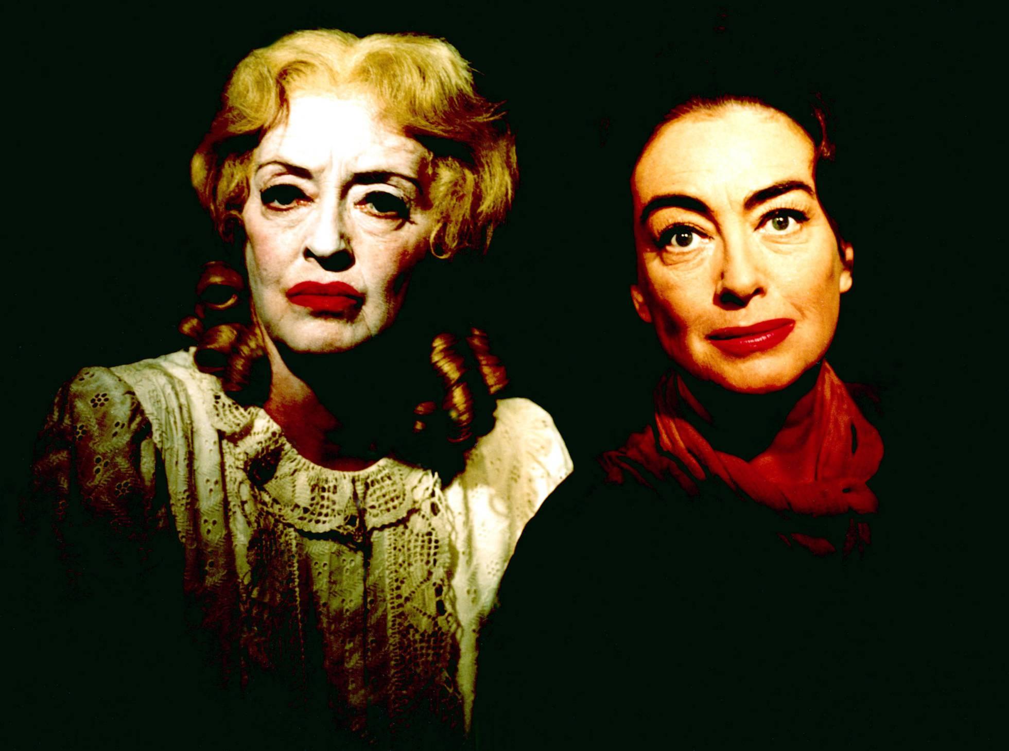 Bette Davis e Joan Crawford, probablemente os dous inimigos máis famosos en a historia de c Ine dentro da pantalla ('What Was Baby Jane'?) E tamén fóra.'¿Qué fue de Baby Jane'?) y también fuera.
