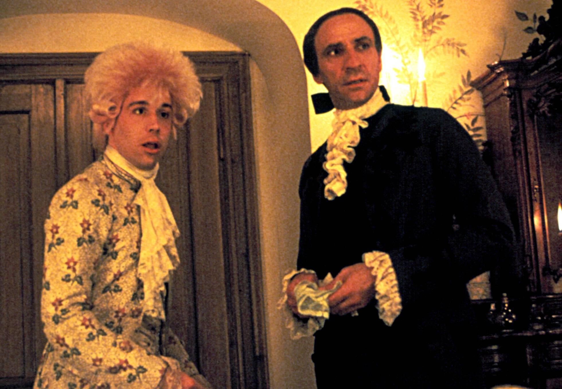 Mozart e Salieri en 'Amadeus', mestura de odio e xenio.'Amadeus', mezcla de odios y genialidad.