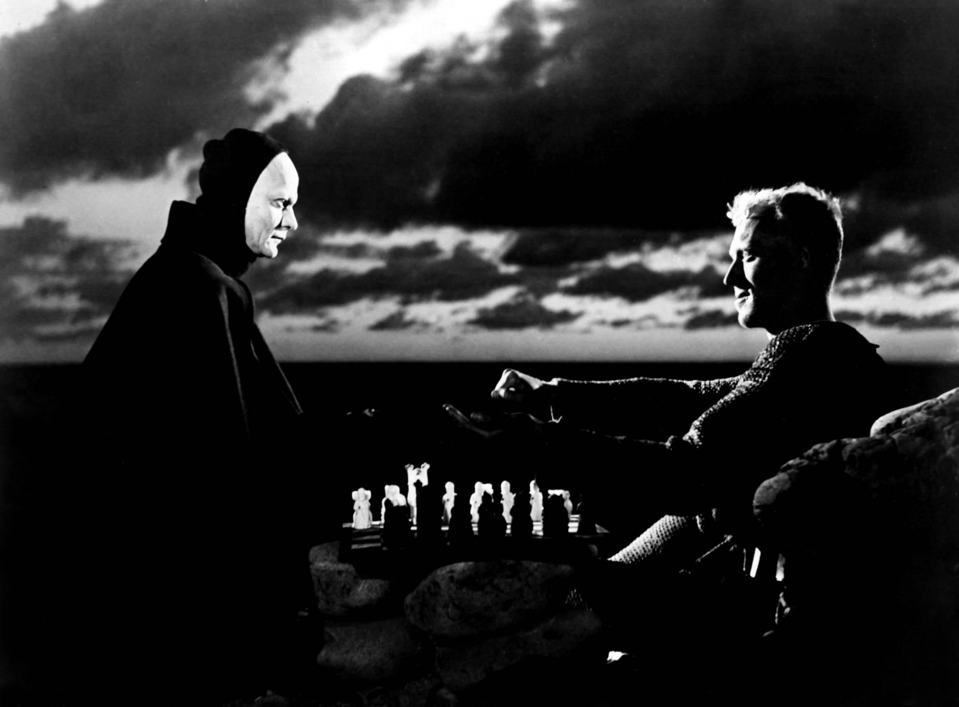 No Séptimo Seal 'Max Von Sydow estaba a buscar un inimigo realmente difícil de bater: a mesma morte.'El séptimo sello' Max Von Sydow se buscaba un enemigo realmente difícil de batir: la mismísima muerte.