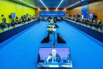 Meeting of the second and last day of the Ministerial Council of the European Space Agency (ESA), in Seville.